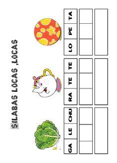 Actividades para imprimir Pon las sílabas en orden 3