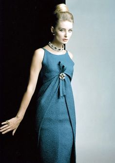 Tania Mallet in Dior. Photo: Eugene Vernier.  #SixtiesStyle
