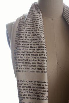 Sherlock Holmes Book Scarf...Beautiful