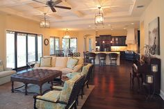 Bayshore Estates Custom Home - mediterranean - living room - tampa - Devonshire Custom Homes