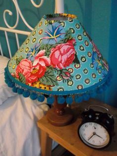 Love the colors! Fabric Lampshade Handmade with Kaffe Fassett by DesignedForDelilah