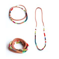 Infinity rope necklace ( thread wrapped) (African collection)