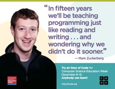 Posters to print out and hang in schools to promote Computer Science Week and Hour of Code.