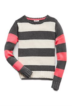 Fun Stripes Sweater (Kids) | FOREVER21 girls - 2000063746