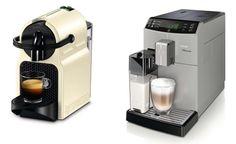 Fot. Ekspres DeLonghi Nespresso Inissia EN80.CW                ; Ekspres Saeco Minuto HD8763/19