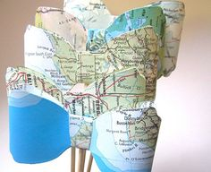 Map Bowties Photo Prop Vintage Map Theme Wedding by MagpieandMax, $8.50