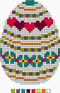 Three Needlepoint Easter Eggs Set 2 - Instructions for Easter Eggs: Needlepoint Patterns, Perler Patterns, Plastic Canvas Crafts, Plastic Canvas Patterns, Cross Stitch Charts, Cross Stitch Patterns, Cross Stitching, Cross Stitch Embroidery, Beading Patterns