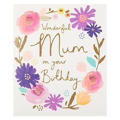 Buy Woodmansterne Wonderful Mum Birthday Card Online at johnlewis.com