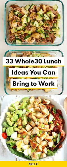 Lunch Ideas You Can Bring to Work - Completing requires some serious meal prep. Here are 33 tasty (and easy) l Lunch Ideas You Can Bring to Work - Completing requires some serious meal prep. Here are 33 tasty (and easy) l - Magic Slicer Trio - ⭐⭐⭐⭐⭐ Th. Whole 30 Meal Plan, Whole 30 Lunch, Whole 30 Diet, Paleo Whole 30, Whole 30 Meals, Whole 30 Drinks, Whole 30 Snacks, Whole Food Diet, Whole 30 Vegetarian
