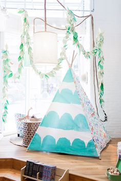 Decorate you child's room with a fun Minted Fabric Play Tent. Add different patterns and textures to create a truly unique kiddie escape.