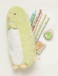 cute fluffy Sumikkogurashi penguin pencil case