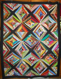 Creating A String Quilt String Quilts have a long tradition. Since they use small strips (strings) of fabric, they are a good . Quilting Tutorials, Quilting Projects, Quilting Designs, Quilting Ideas, Sewing Projects, Crumb Quilt, Asian Quilts, Quilting Board, Tie Quilt