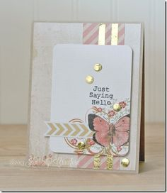 just saying hello by Kimberly Crawford with #ScrapbookAdhesivesby3L , Pink Paislee, and Clearsnap