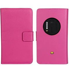 Buddycover Flip PU Leather Case for Nokia Lumia 1020 Wallet Book Style Cover Stand Holder Phone Bag(red): Amazon.ca: Cell Phones & Accessories