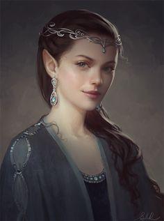 15 Beautiful Retrato Digital Works artes por Selene