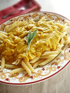 Pasta with Butternut Parmesan Sauce.....my friend Jeni just sent me this and it looks delish, I need to try it!
