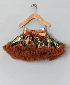 Take a look at this Green & Brown Camo Bow Pettiskirt - Infant & Toddler by Just For Girls on #zulily today!