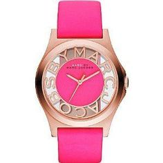 Montre pour femme : Marc Jacobs Rose Gold Henry Skeleton Pink Leather Ladies Watch  MBM1243 Marc by