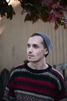 Wool Beanie for Men. Casual Fall Summer Outfit for Men. Urban Fisherman Beanie by VAI-KØ.