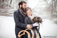 Зимняя фотосессия с парнем