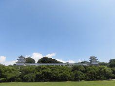明石城 重要文化財・坤櫓(左)巽櫓(右) 2016.07.06