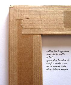 Tuto cadre en carton
