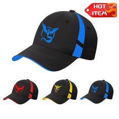 ca1d8d663ed Pokemon Go Cap Hat Team Valor Team Mystic Team Instinct Pokemon Cap Pokemon  Hat