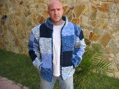 Mi chaqueta Polar de crochet, con punto tunecino.