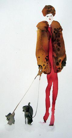 Leopard Print Walkies - Bridget Davies