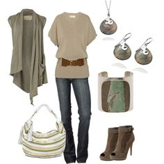 I absolutely love the muted colors in this look...makes me feel calm and the look classy