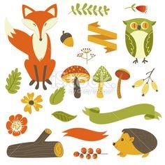 Autumn forest Lizenzfreie Vektorillustrationen
