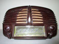 Art Deco French Bakelite Tube Radio Sonora Excellence 211 All Original !!!!!!!