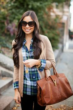 Plaid shirt - Photo credit:With Love From Kat via StyleList