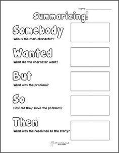 Summarizing Graphic Organizer Printable | We Are Teachers