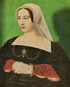Katherine Parr by William Camden Edwards, after Hans Holbein the Younger; color.