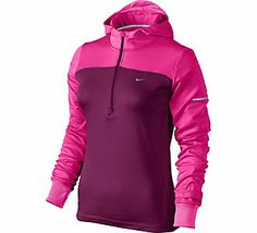 Great for running in the cold // Women's Nike Thermal Half Zip Hoodie