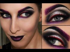 witch makeup, dramatic look, highlighted eyes, in dark colors, gam . # Make Up Witch Makeup, Halloween Face Makeup, Makeup Trends, Makeup Tips, Maroon Makeup, Fantasy Make Up, Beautiful Witch, Hair Tattoos, Dramatic Look