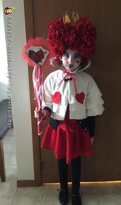 Queen of Hearts Child Costume Halloween Costume Contest, Halloween Diy, Happy Halloween, Homemade Costumes, Diy Costumes, Costume Ideas, Alice In Wonderland Costume, Heart For Kids, Queen Of Hearts