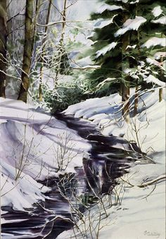 Watercolor painting by Janis Schilling