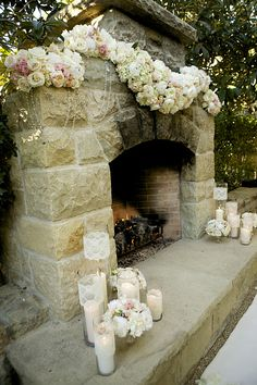Flowers and Lace and Candles