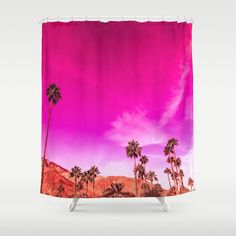 Palm Springs Rush Hour Shower Curtain by ninamay | Society6