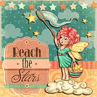 Reach the Stars - Digital Stamp - $3.00 : Digital Stamps, Scrapbooking, Crafts, Artisan Resources, cardMaking, Paper Crafts, Digital Crafting by The Paper Shelter