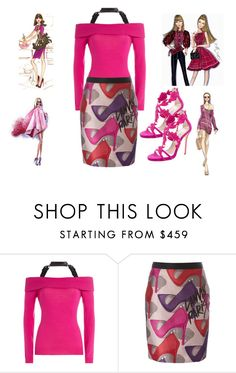 """""""Untitled #1654"""" by deirdre35 on Polyvore featuring Moschino, Lanvin, Olsen, WALL and Oscar de la Renta"""