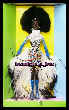 MBILI Treasures of Africa NO BOX Byron Lars Barbie Doll African American AA | eBay