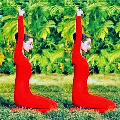 Seeing double on #throwbackthursday #tbt 1958: Audrey Hepburn (Hollywood actress) on MGM's film set 'Green Mansions' practicing yoga (vintage yoga photo) ...... #vintageyoga #yogahistory #1950s #om#yoga #hollywoodyoga #yogaworld #unitard