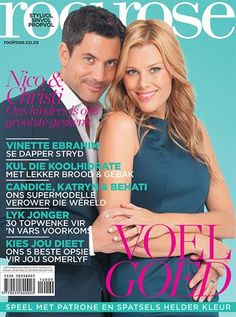 rooi rose September 2014 - Nico & Christi Panagio Beautiful Cover, September 2014, Natural, My Favorite Things, Digital, Magazine Covers, Products, Nature, Beauty Products