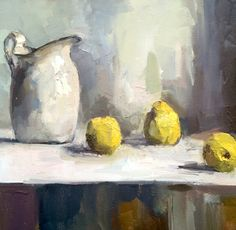 still life - Lisa Noonis Rework fruit bowl like this Zen Painting, Still Life Oil Painting, Fruit Painting, Still Life Drawing, Still Life Art, Ecole Art, Contemporary Paintings, Painting Inspiration, Abstract Art