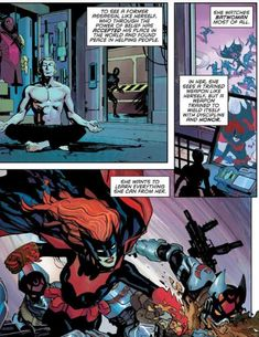 Batwoman, Helping People, Alice, Comic Books, Comics, Comic Book, Comic Book, Comic, Cartoons