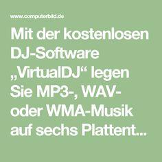 """Mit der kostenlosen DJ-Software """"VirtualDJ"""" legen Sie MP3-, WAV- oder WMA-Musik auf sechs Plattentellern auf, mischen zwei Songs miteinander, erzeugen fließende Übergänge, spielen MP4- oder MOV-Videos ab und peppen den Klang mit Effekten auf. Über ein paar Klicks können Sie Loops oder Cuepoints anlegen, die Geschwindigkeit verändern oder die BPM (beats per minute) zweier Titel anpassen. Dank dieser und weiterer Profi-Features sind Sie als Discjockey auf der nächsten Party bestens…"""