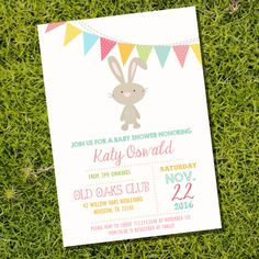 Vintage Shabby Chic Bunny Baby Shower by SunshineParties on Etsy
